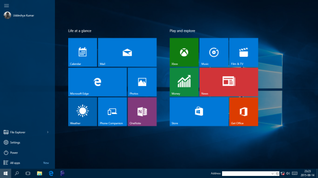 Windows 10 Pro Start menu (uddeshyakumar.wordpress.com)